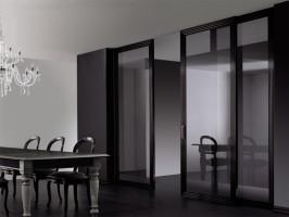 Раздвижные стеклянные перегородки в квартиру