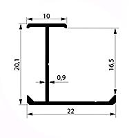 Профиль соединительный H16-17 мм