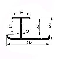 Профиль соединительный H8-9 мм