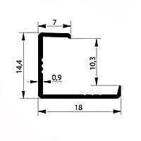 Профиль торцевой L10-11 мм