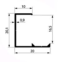 Профиль торцевой артикул L16 - 17 мм