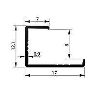 Профиль торцевой L8-9 мм